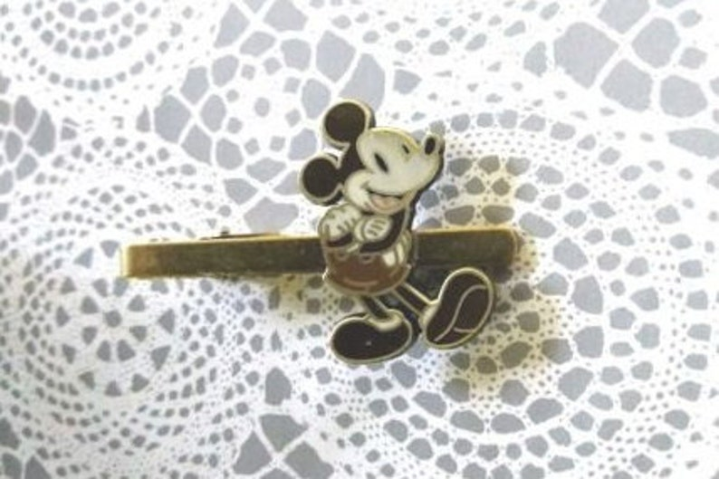 fe98a4105aa2 Vintage Style Disney Retro Mickey Mouse Tie Clip Bar Great | Etsy