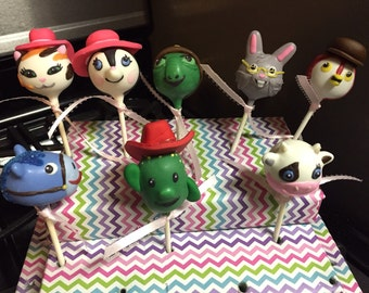 Items Similar To 12 Cowboy Or Cowgirl Cake Pops With Cow