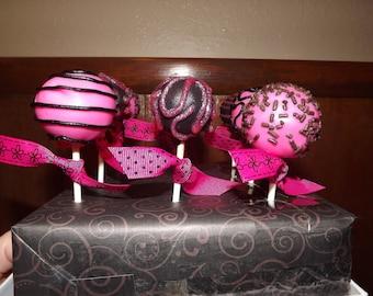 Fun Girly Designed Cake Pops