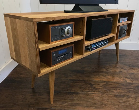 Mid Century Modern TV Stand Stereo Cabinet Or Media Console