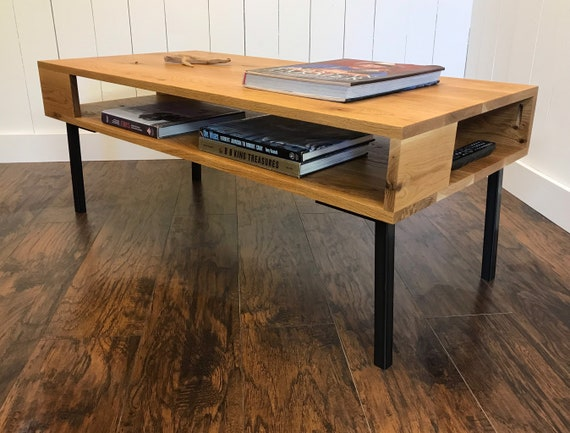 Loft Style Coffee Table With Storage Modern Industrial Coffee Etsy