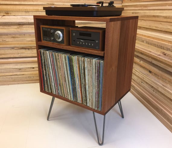Charmant Solid Mahogany Record Player Console Stereo Cabinet Album | Etsy