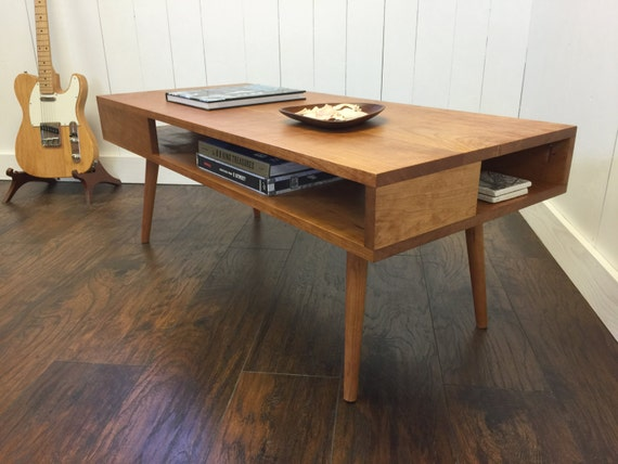 Charmant Solid Cherry Coffee Table. Thin Man Mid Century Modern Coffee   Etsy