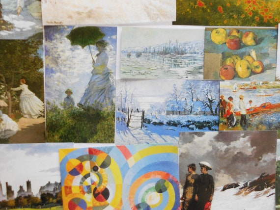 Famous paintings images pack 100 paper images by famous artists for craft  making collage decoupage scrap booking card making art history