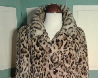 be07ee95c187 Vintage Leopard Print Full lLength Coat by Russell Taylor