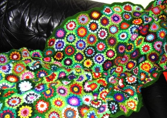 HÄKELANLEITUNG Decke Blanket UPCICLED ReTRO HExAGON | Etsy