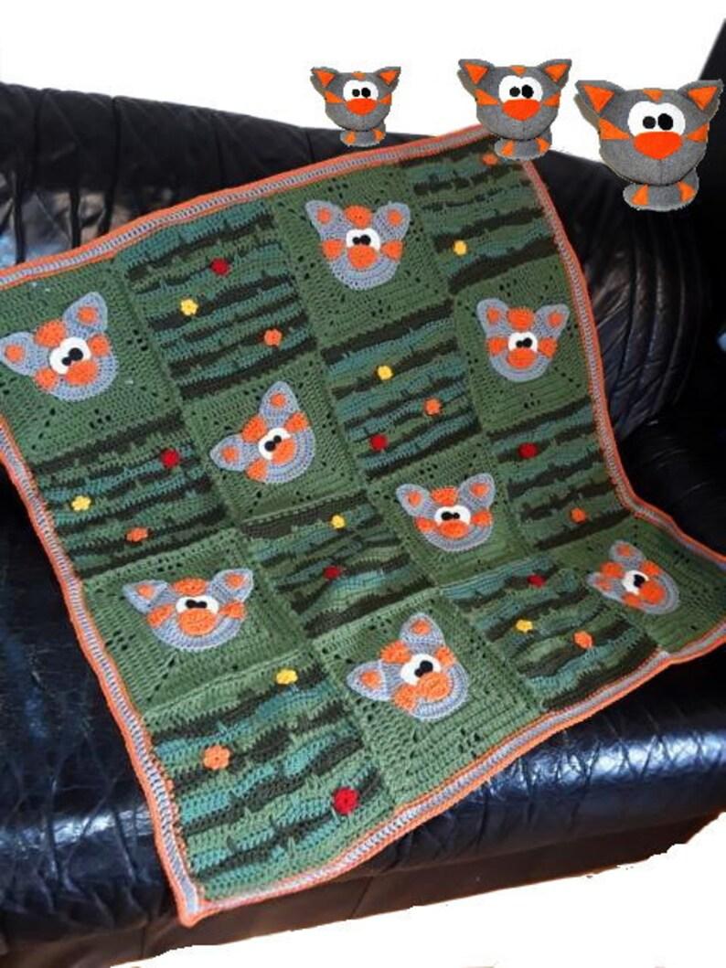 playmat CROCHET PATTERN * Blanket CraZy CatZzzzz * Baby blanket instant download crochet blanket