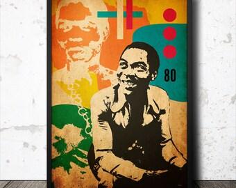 Fela Kuti Afrobeat Music Icon Art Poster 1 | Etsy