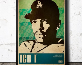 Ice T Hip Hop Poster