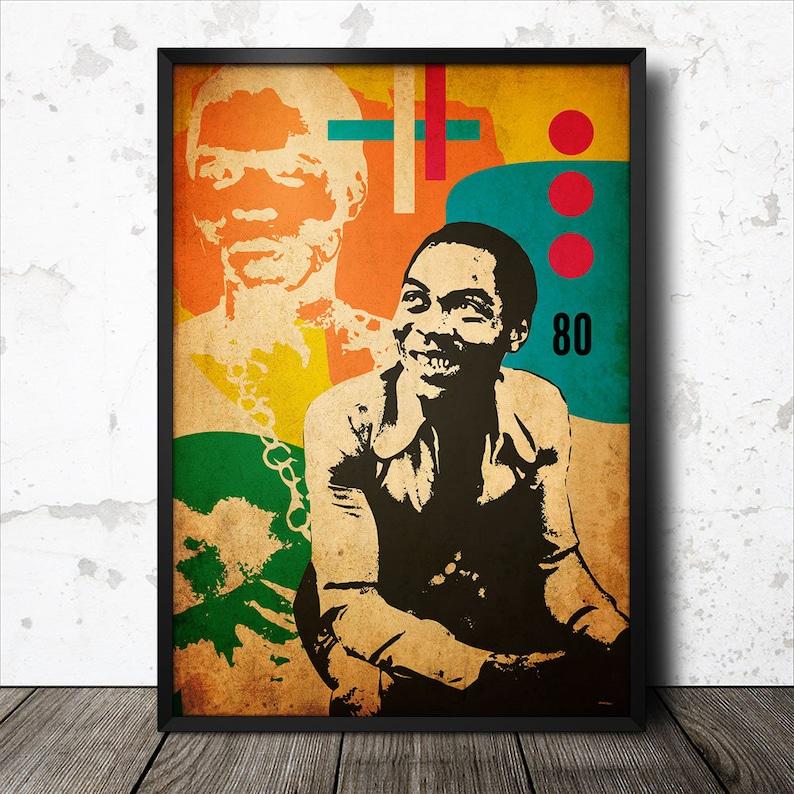 Fela Kuti Afrobeat Music Icon Art Poster #2