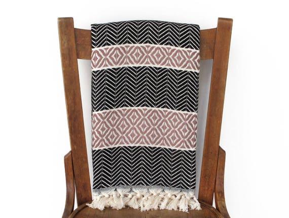 Turkische Bad Handtuch Schwarz Couch Werfen Sofa Werfen Decke Etsy