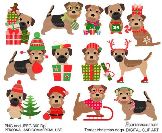 Border Terrier Christmas Funny Border Terrier Lover Dog Xmas Langarmshirt