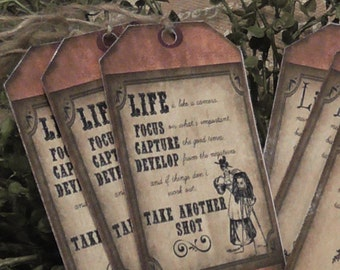 Primitive Life Take Another Shot Hang Tags