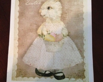 Baby Bunny Easter Card - FREE SHIPPING
