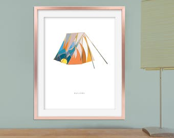 Deathly Hallows Poster, Printable Harry Potter Poster, Harry Potter Wall Art, Printable Deathly Hallows Art, Printable Harry Potter Nursery