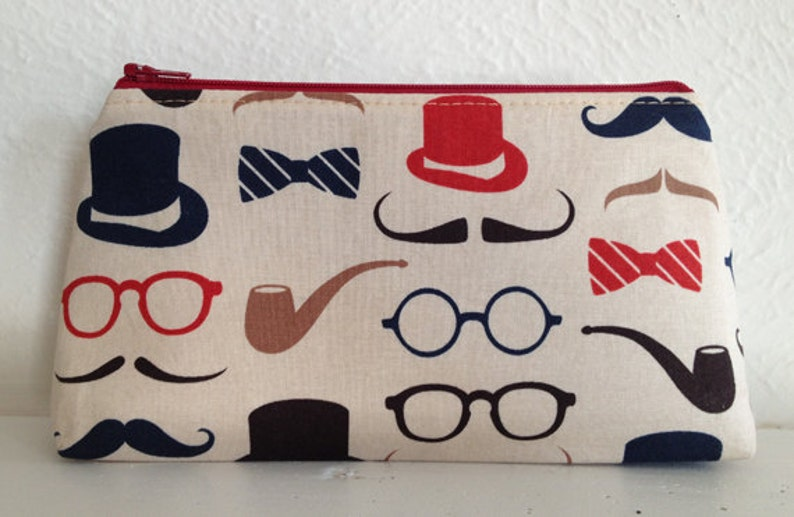 Top Hat & Bowtie Cosmetic Bag/Make Up Pouch image 0