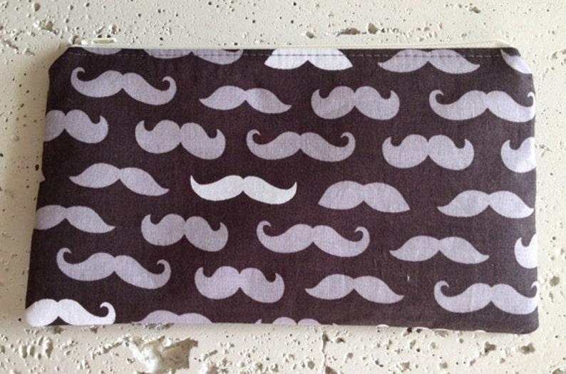 Moustache Zipper Pouch/Gadget Bag image 0