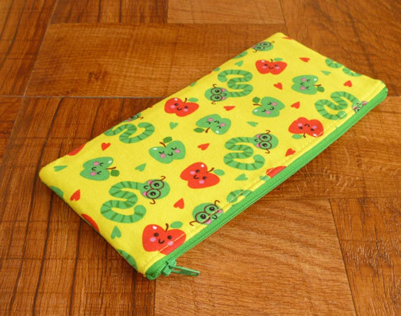 Worm & Apple Zipper Pouch/Gadget Bag/Coupon Holder image 0