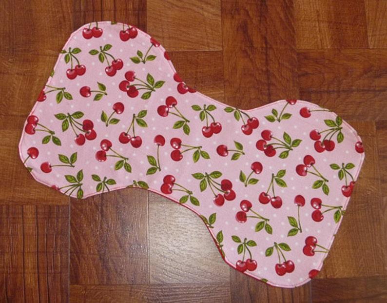 Cherry Stem Baby Burp Rags/Burp Pads image 0