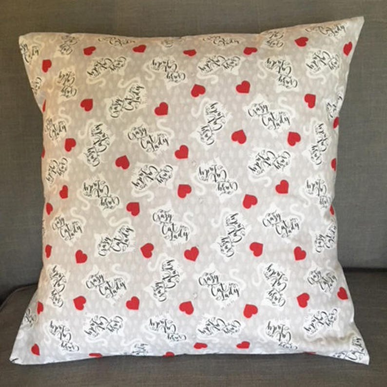 Crazy Cat Lady Pillow Covers/Pillow Cases  18 x 18 image 0