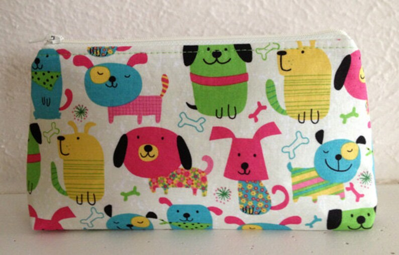 Colorful Dogs  Gadget Pouch/Jewelry Bag image 0