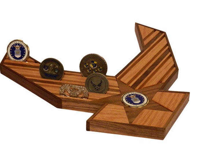 Military Air Force Challenge 24 Coin Display, Engraved Coin Holder, Personalized Birthday Gift, Fathers Day