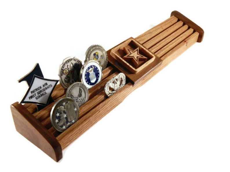 24 Challenge Coin Display, Army Military Coin Holder