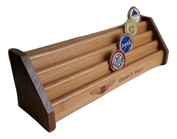 military coin holder wood