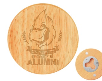 Engraved Wooden Magnetic Bottle Opener