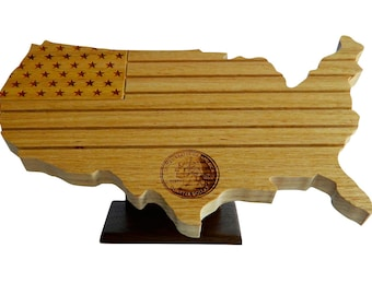 US Map/Flag State Quarter Coin Holder