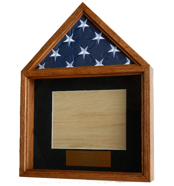 military flag certificate box shadow box flag display case | etsy