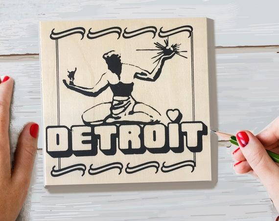 Craft Kit, Spirit Detroit, Adult Coloring, Adult Craft Kit, Make Your Own Art, Crafts for Adults, DIY Home Decor, Sign Making Kit, Wood Sign