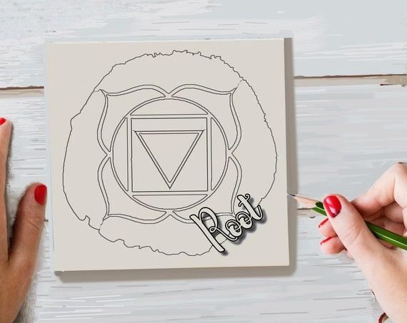 Craft Kit, Root Chakra, Adult Coloring, Wood Sign Kit, Make Your Own Art, Energy Healing, DIY Home Decor, Sign Making Kit, Girls Night In