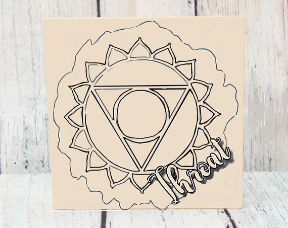 Wood Board, Throat Chakra, Adult Coloring, Wood Sign, Make Your Own Art, Energy Healing, DIY Home Decor, DIY Wood Sign, Girls Night In