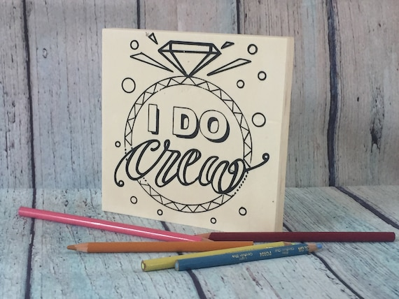 Craft Kit, I Do Crew, Adult Coloring, Adult Craft Kit, Make Your Own Art, Bridal Shower, Wedding Party, Bachelorette Party, Wedding Favor