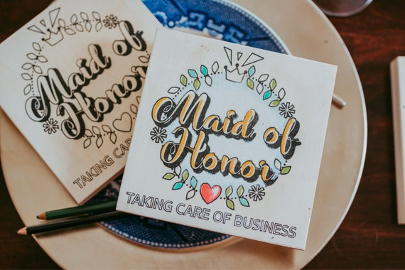 Craft Kit for Adults, Maid of Honor, Coloring Board, Adult Craft Kit, Bridesmaid Proposal, Wedding Party, Bachelorette Party
