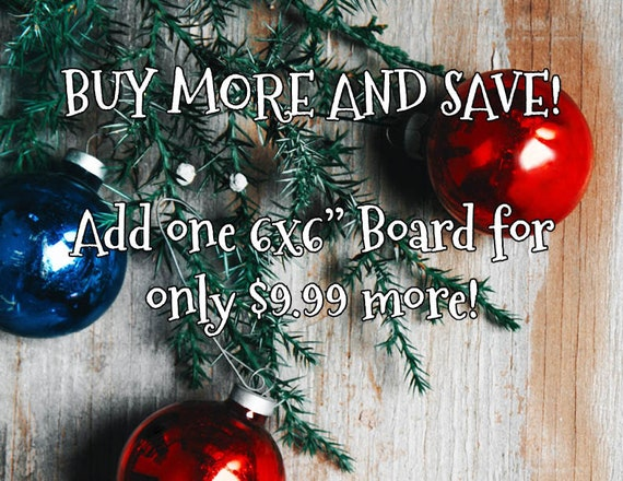 "Buy more and save, gift special Holiday add-on add one 6x6"" coloring board for only 9.99 more"