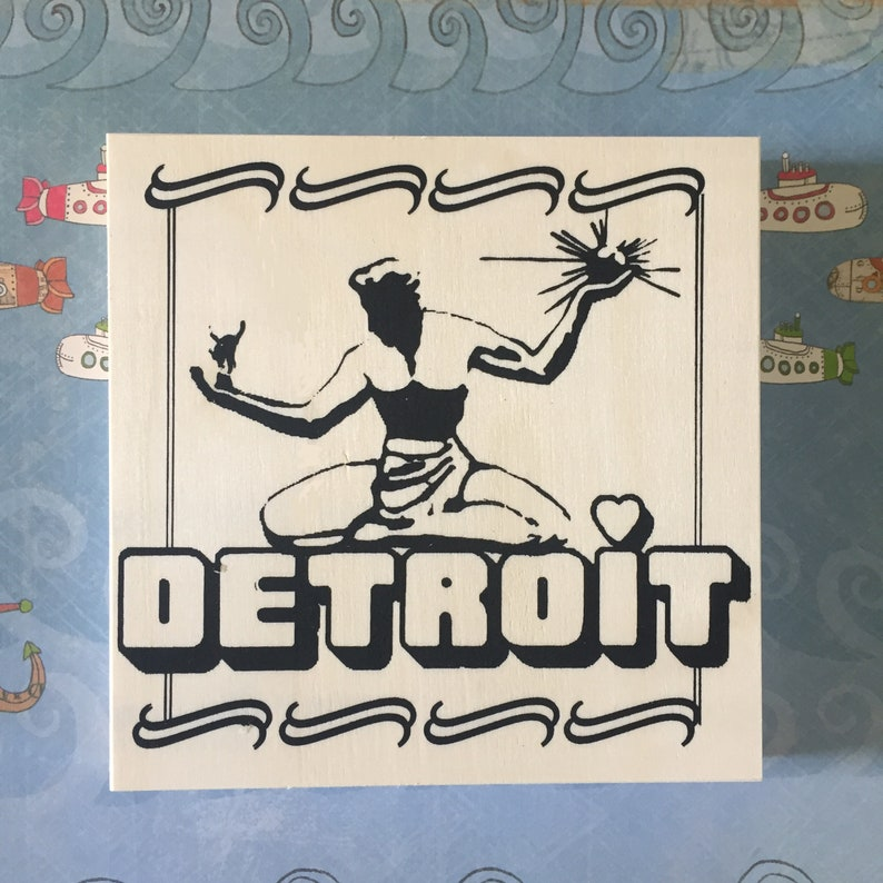 Unique Coloring Gift Michigan Made State of Michigan Coloring Board Spirit of Detroit Craft Kit Made in Michigan City of Detroit