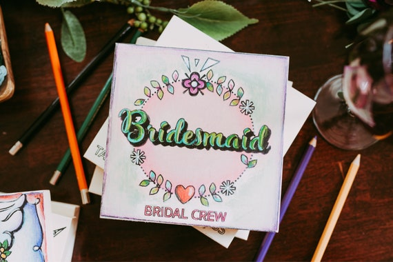 Craft Kit for Adults, Bridesmaid, Coloring Board, Adult Craft Kit, Bridesmaid Proposal, Wedding Party, Bachelorette Party,