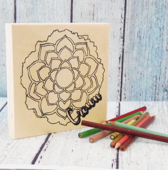 Wood Board, Crown Chakra, Adult Coloring, DIY Wood Sign, Make Your Own Art, Energy Healing, DIY Home Decor, Light Workers, Girls Night In