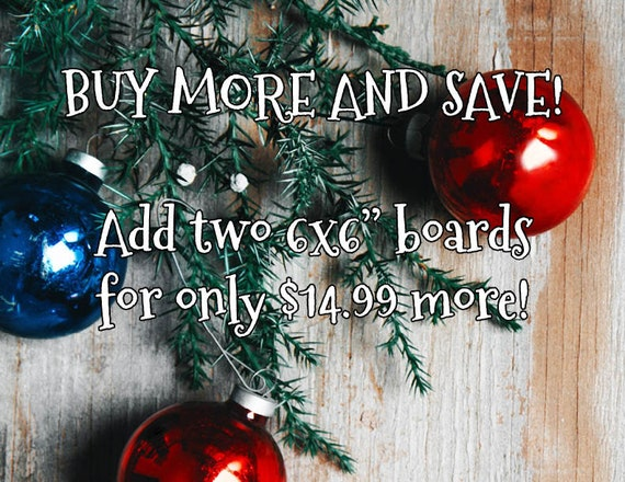 "Buy more and save, gift special Holiday add-on add two 6x6"" coloring boards for only 14.99 more"