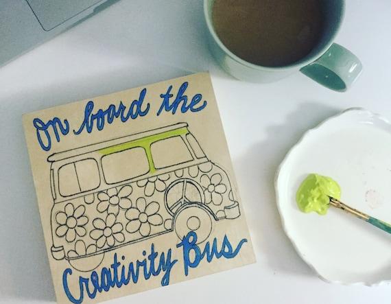 Coloring Board Creativity Bus Craft Kit Artsy Themed Travel Etsy