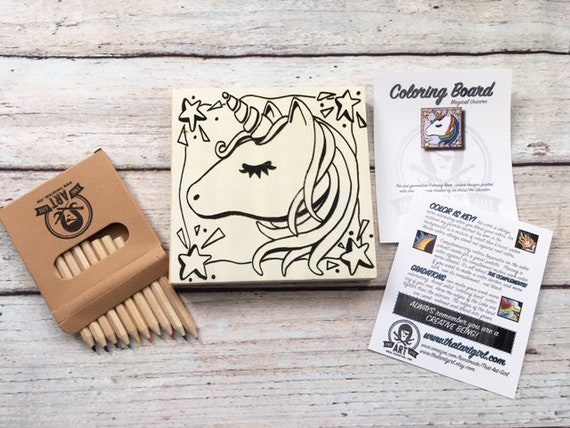 Craft Kit, Unicorn, Make Your Own Art, Crafts for Girls Tweens, DIY Home Decor, Unicorn Birthday Party, Wood Sign Kit, Party Favors,