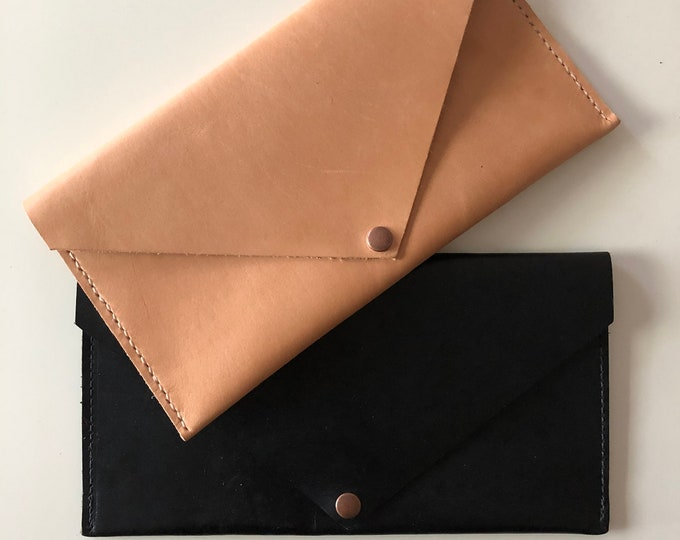 Featured listing image: Leather Envelope Clutch
