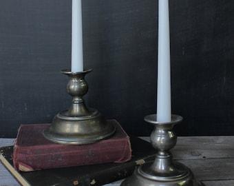 Set of 2 silver taper candleholders 3f2b12d42
