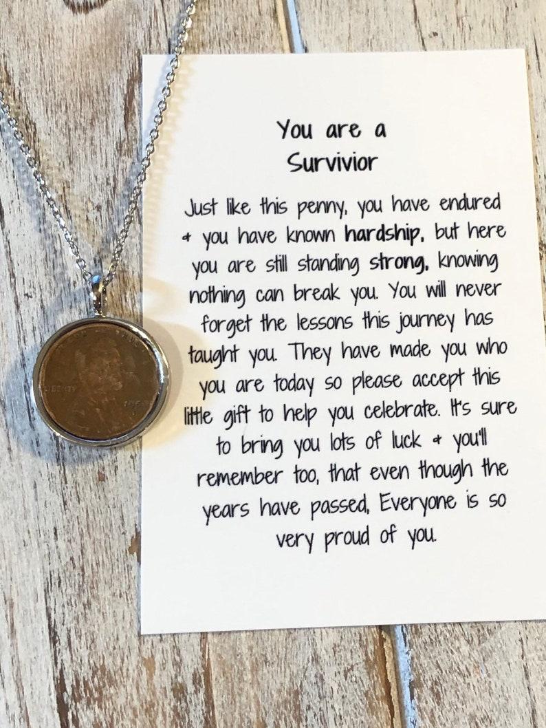 You are a survivor Gift \u2022 You are a survivor poem \u2022 Survivor Necklace \u2022 Still standing strong \u2022 Hardship \u2022 Life Lessons \u2022 Penny Necklace