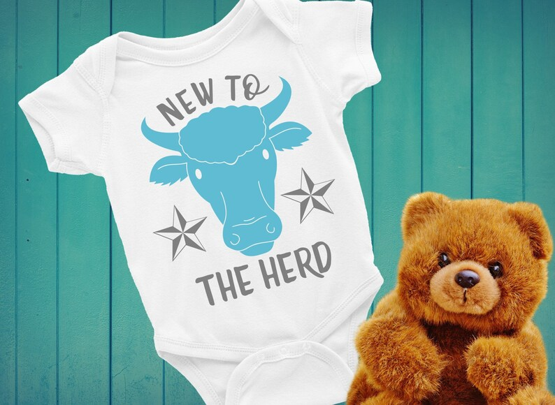 New Baby svg New to the Herd Cow clip art Baby Sublimation ...