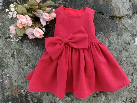 Baby mädchen Weihnachtskleid. Festliches baby kleid rot. Babys | Etsy