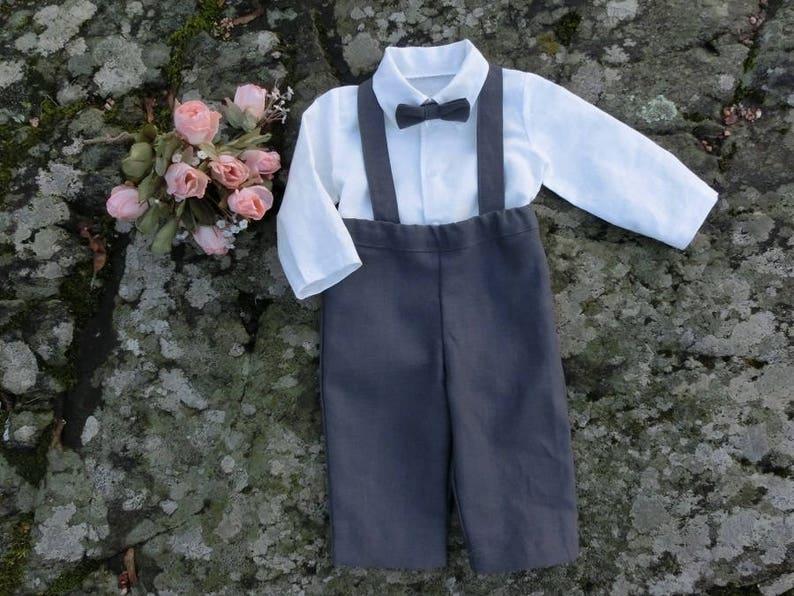 bdf336cd0749c Tenue de bébé garçon porte-jarretelles bébé anneau porteur de