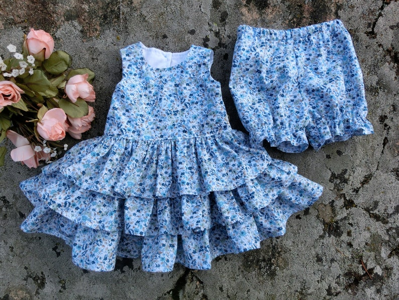 2663e289 Baby garden party dress Floral dress and bloomers & headband | Etsy